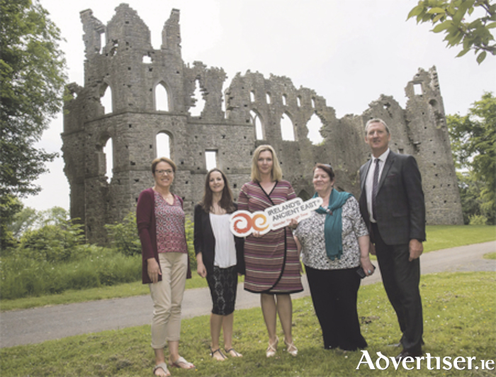 Pictured are Sharon Bollard, Una Dorris, Tourism Westmeath COCO, Marie McCormack, Failte Ireland, Mary Kelly and Maurice Stenson, Belvedere House, Gardens and Interpretation Project. Picture: Pat Moore