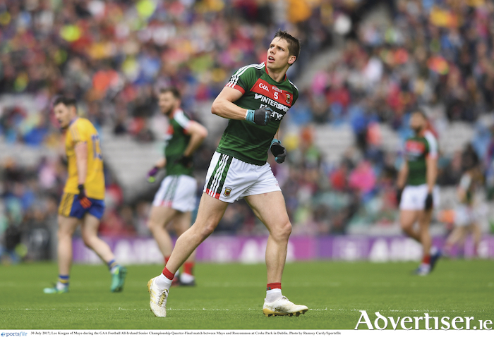 Keegan on the cards? Mayo will be hoping that Lee Keegan will be back in harness for this weekend. Photo: Sportsfile.