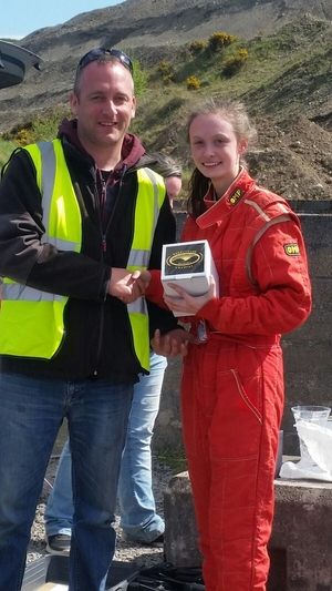 Molly McManamon, the winner of the class seven category in round one of the Mayo and District Motorsport Club Loose Surface Autocross last month.