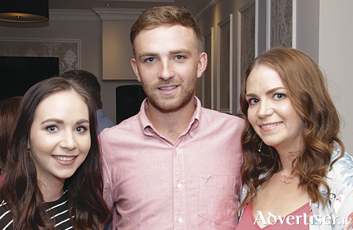 Lisa, David, and Nicola Mooney of Tirellan celebrating twenty years of the Menlo Park Hotel on Saturday night. Photo:-Mike Shaughnessy