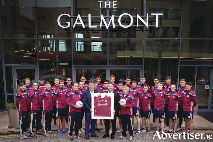 Congratulations to the Galway senior football team from all the at The 4 * Galmont Hotel & Spa (formerly the Radisson Blu) on reclaiming the Connacht title by beating Roscommon last weekend. Here's to continued success in the Super Eights as well as the remainder of the championship. Pictured is (L-R): John Lally, MHL Hotel Collection and Stefan Lundstrom, General Manager of The 4* Galmont Hotel and Spa with the Galway Senior football team at a recent visit to the hotel where the team enjoyed a special tour of recently rebranded hotel as well as scrumptious breakfast created by the hotel's Executive Head Chef, Adrian Bane.