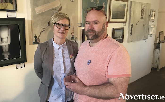 Amach! chair Maria Molloy and Rob Partridge, board member of LGBT Ireland and coordinator of the Galway branch.