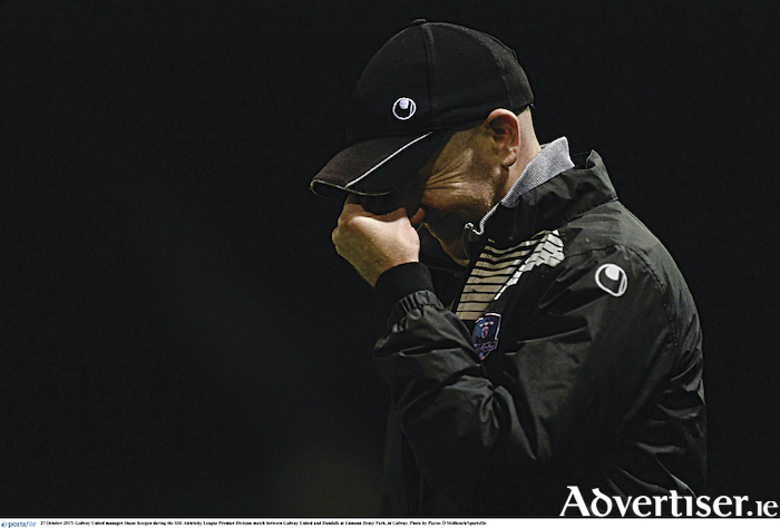 Departing Galway United manager Shane Keegan gave it his all, but failed to get the necessary results.