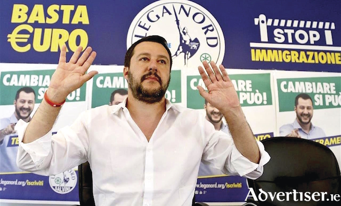 Matteo Salvini, deputy prime minister of Italy and minister of the interior, one of Europe's major right-wing populists.