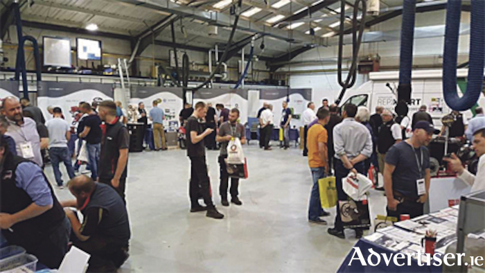 Motor enthusiasts browsing the stands at the recent Mobile Motor Factors trade show