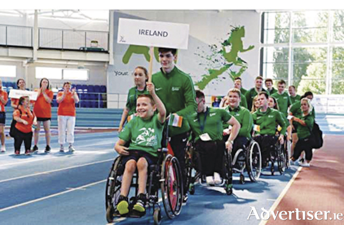 Team Ireland at the opening ceremony of the IWAS Games at AIT