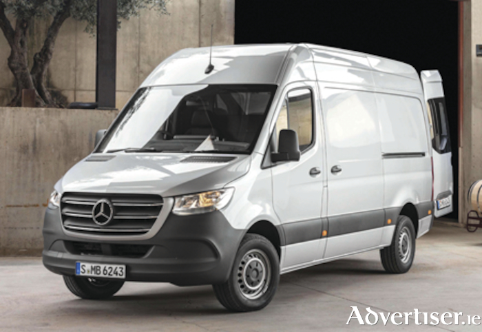 New Mercedes-Benz Sprinter van.