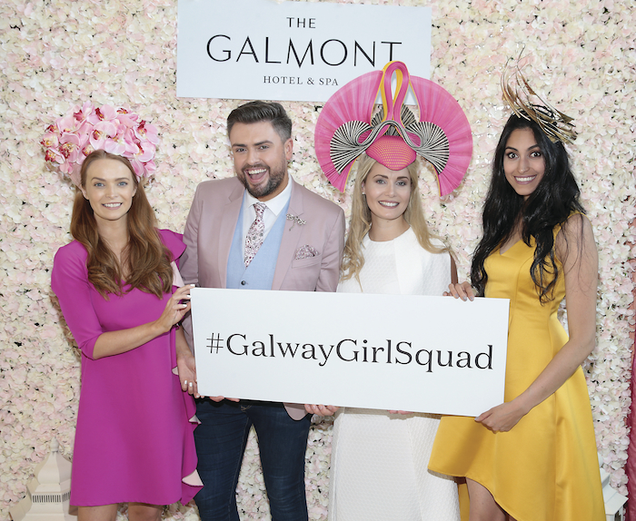 Aoife Walsh, James Patrice, Kate Moloney and Carlha Linares pictured as they stepped out to give a special preview of the latest in racing fashion for the launch of Galway's 4 Galmont Hotel & Spa's programme of activity for this year's horse racing festival.