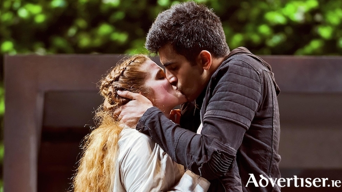 Karen Fishwick and Bally Gill as Juliet and Romeo.