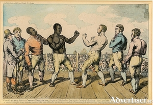 A depiction of Tom Molineaux's fight against Tom Cribb in 1811.