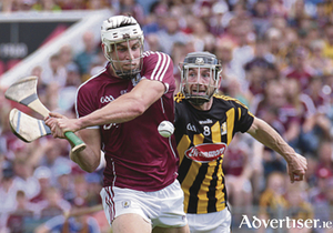 Galway's Gearóid Ryan and Kilkenny's Conor Fogarty in action from the Leinster Hurling Senior Championship final replay at Semple Stadium on Sunday. Photo:-Mike Shaughnessy