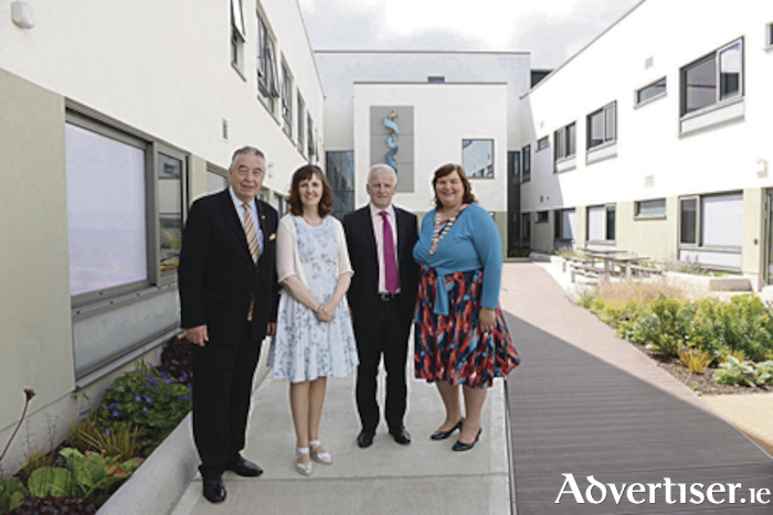 Cllr Padraig Conneely; Barbara Forde, Mental Health Services Galway; Tony Canavan, chief officer, Community Healthcare West; and Cllr Mary Hoade, the former chairperson of the Regional Health Forum West pictured at the opening of the new adult mental unit in Galway.