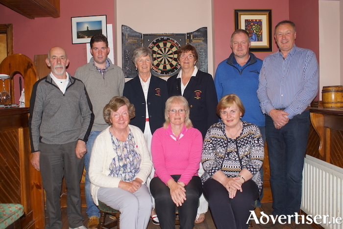 The winners of the strokeplay competition at Balla Golf Club sponsored by Roches Centra - Balla. Back row:  PJ Brett, Ronan Mahon, Carmel Henry (president), Julie Loftus (Lady Captain), Mick Mellett and John Nally. Front row: Delia O'Hara, Aine MhicSuibhne and Helen Byrne.