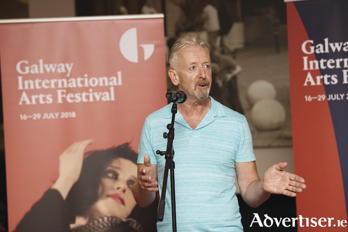 Artist David Mach speaking at the opening of the GIAF this week. Photos by Andrew Downes