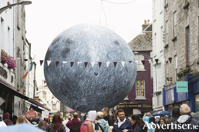 The Museum of the Moon on display in Shop Street. Photo:- Andrew Downes, XPOSURE