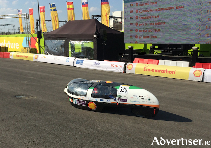 The Geec in action at the Shell Eco-marathon Europe.