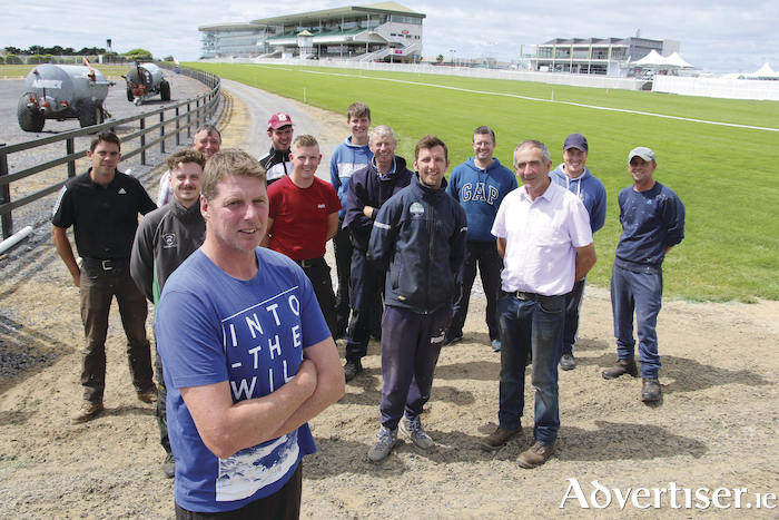 Gerry Broderick Course Foreman with his team. Photo:- Mike Shaughnessy