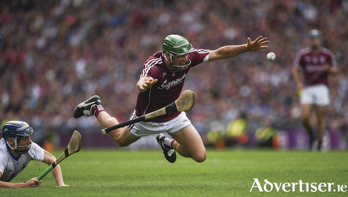 Captain David Burke has the ability to inspire Galway has he did last year against Waterford in the final. Photo by Ray McManus/Sportsfile