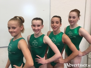 Galway gymnasts: Blathnaid Higgins, Jane Heffernan, Kate  Molloy, and Emma Slevin  will be Ireland's representatives at the European Artistic Gynmastics Championships.