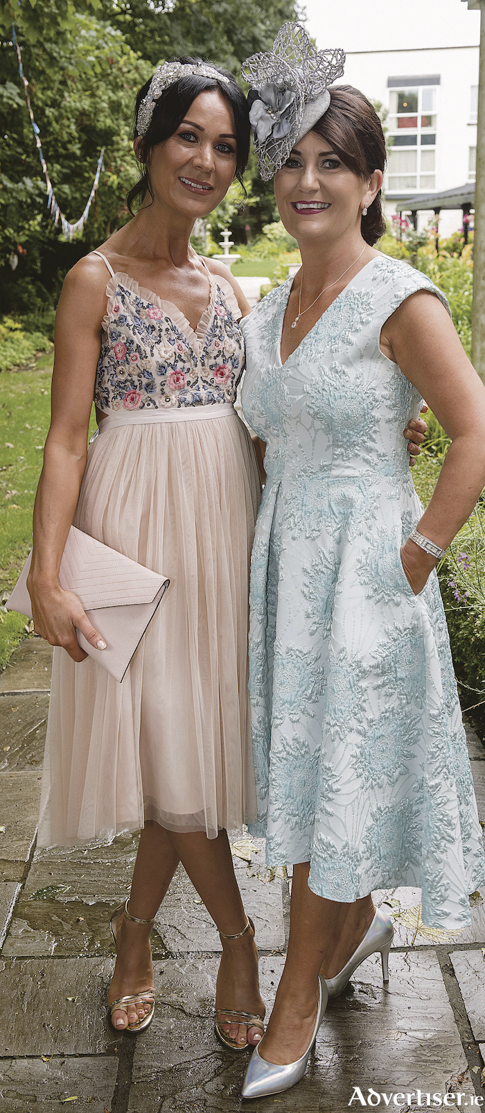 Aine O'Brien, Roscommon and  Mary Butler, Clybaun at The Ardilaun Hotel Galway in support of National Breast Cancer Research Institute. Photo:Andrew Downes, xposure,