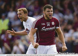 Damien Comer reacts after his second half goal was ruled out in the Kildare game.