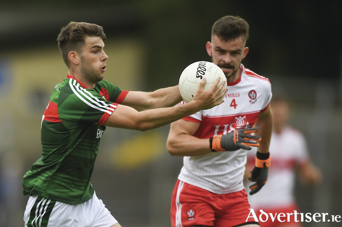 Leading the charge: Oisin McLaughlin has been a key man for the Mayo u20s this year and he is hoping for one more big day on Sunday. Photo: Sportsfile.