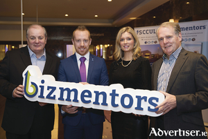 Pictured from left are Gavin Duffy, Michael Smyth, GM of SCCUL Enterprises CLG, Dr. Johanna Clancy, Chairperson of SCCUL Enterprises CLG, and Colman Collins, Chairperson of the bizmentors Advisory Board.