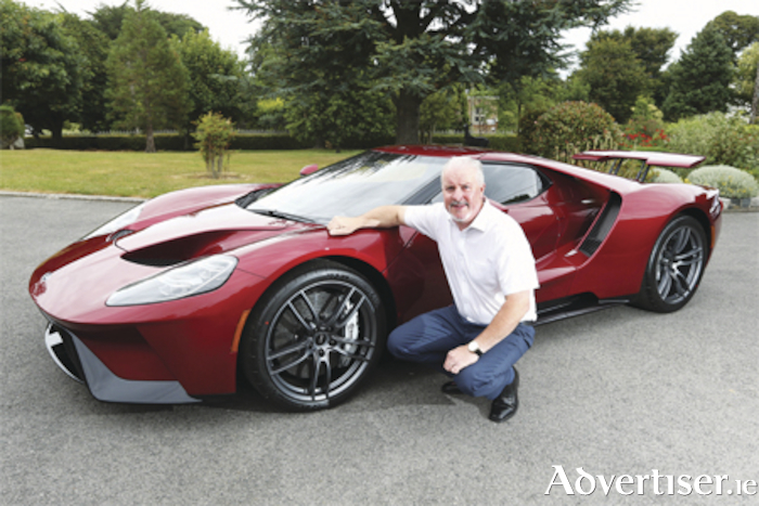 Ford Ireland's Managing Director, Ciarán McMahon, is pictured with the first model of the latest all new Ford GT to arrive in Ireland.