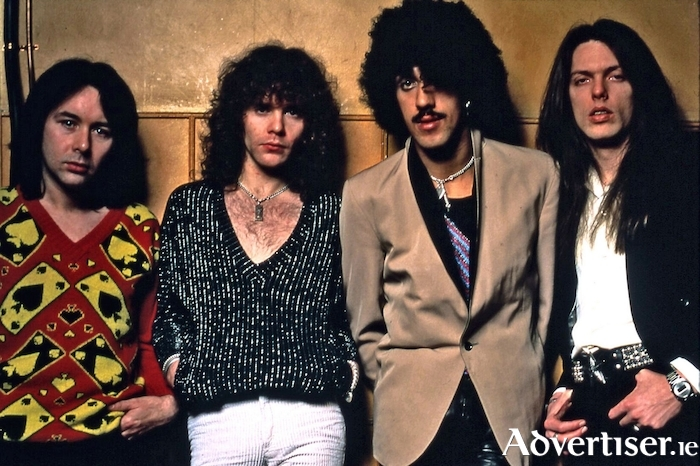 Thin Lizzy, with Brian Downey (first on the left).