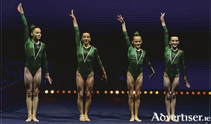 Stepping on to the European Stage in Glasgow: Galway's  Emma Slevin, Kate Molloy, Blathnaid Higgins and Jane Heffernan.