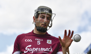 Padraic Mannion of Galway during the GAA Hurling All-Ireland Senior Championship semi-final replay match between Galway and Clare at Semple Stadium in Thurles, Co Tipperary. 