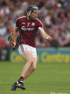Padraic Mannion of Galway during the Leinster GAA Hurling Senior Championship Round 3 match between Galway and Kilkenny at Pearse Stadium in Galway. Photo by Piaras ? M?dheach/Sportsfile