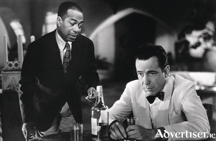 Dooley Wilson (Sam) and Humphrey Bogart (Rick) in Casablanca.