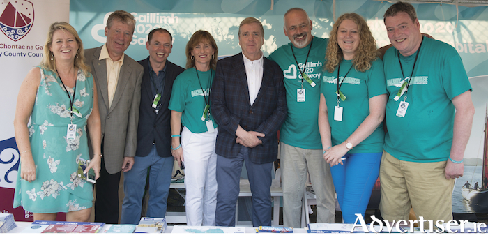 Ruth Moran and Billy Condon, both Tourism Ireland; Brian O'Brien, Consul General of Ireland to Chicago and the Midwest USA; Breda Keaveney; Minister Pat Breen; Peter Keaveney, Bernie Donnellan and Ger Mullarkey, all Galway County Council, pictured at the annual Milwaukee Irish Fest.
