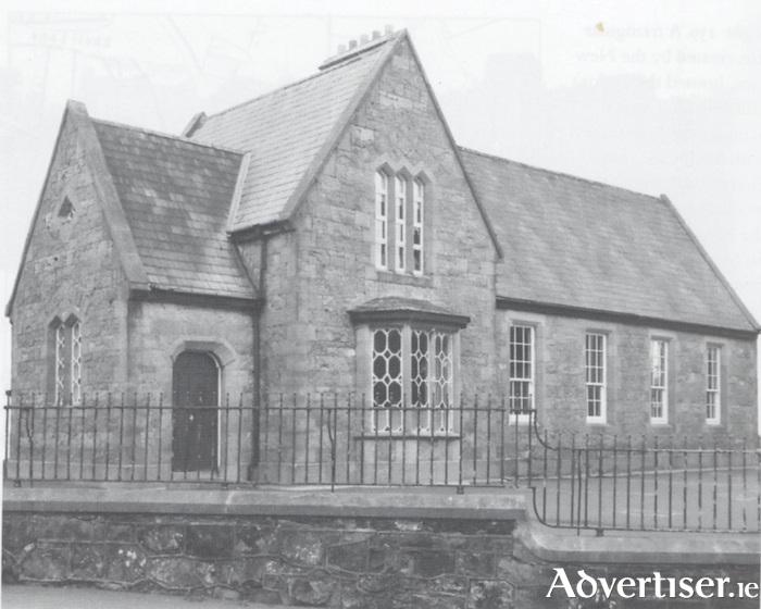The Mission Society's orphanage, church and school, built in a rather severe Gothic style 1862. It is now, of course, the popular Scoil Fhursa.