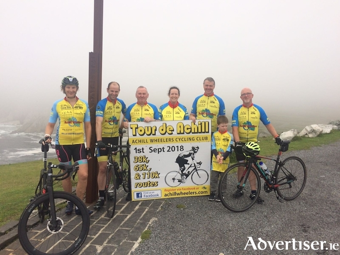 Members of Achill Wheelers launching the Tour de Achill Cycle Sportive which takes place on September 1.