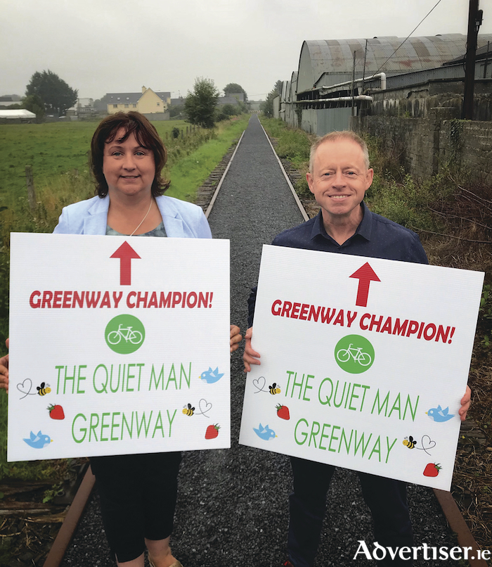 I walk the line - Deputies Cannon and Rabbitte putting their combined energies behind the greenway campaign.