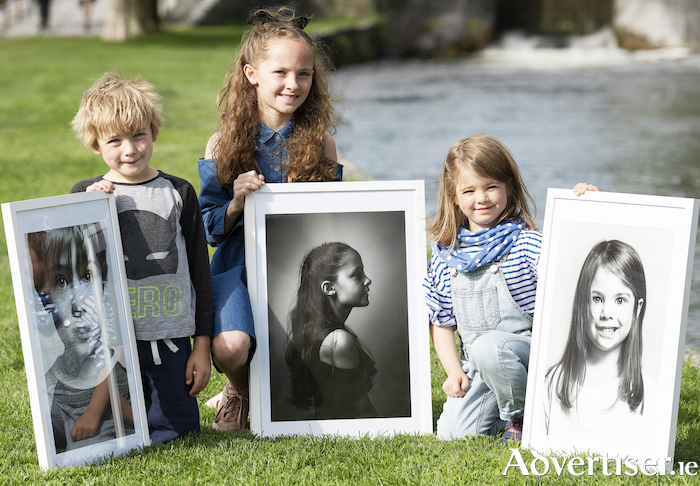 Leilani Boland (6), Katie Kelly (9) and Connall Flaherty (6) at the launch of the 22nd Baboró International Arts Festival for Children. Photo:- Andrew Downes, xposure