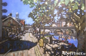 A detail from Quay Street, Athlone, by John Soden, which will be shown as part of the Group 8 exhibition.