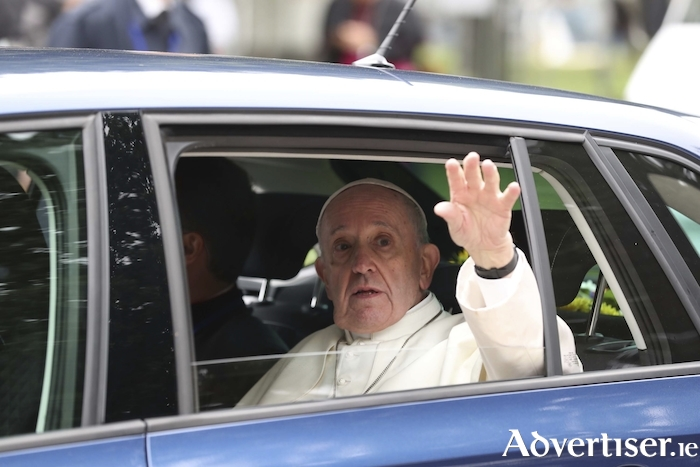 Pope Francis during his recent visit to Ireland.