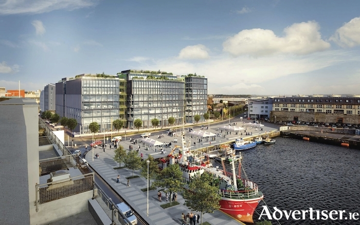Artists impression of the Bonham Quay development.