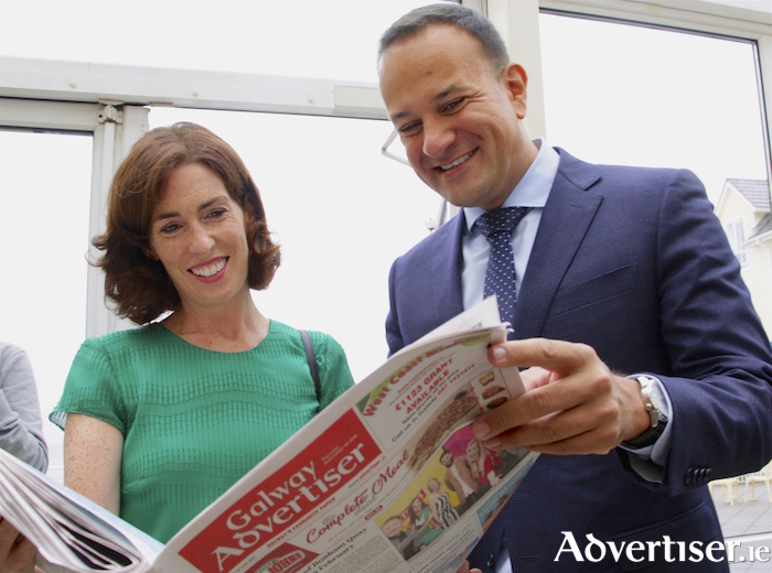 An Taoiseach Leo Varadkar with Hildegarde Naughton TD at the recent Fine Gael Party Think In at The Galway Bay Hotel. Photo:- Mike Shaughnessy