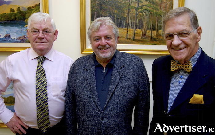 Tom Kenny, Bill Whelan, and Kieran Tobin, at the opening of Kieran's latest exhibition, A Touch Of Autumn.