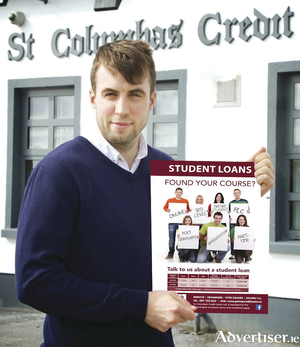 Galway footballer Paul Conroy, supporting the St Columba's Credit Union Student Loan Campaign.