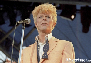 David Bowie on the Serious Moonlight tour of 1983.