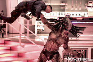 The Predator - resplendent in codpiece and fishnet tights. As you do. Photo:- Kimberley French