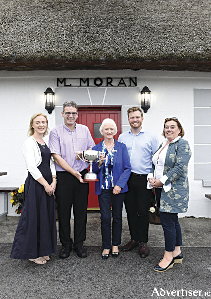 L-R: Gail O'Dowd-Maher; David Small, Moran's Oyster Cottage - Winner of 2017 Irish Oyster Opening Championship; Margaret O'Dowd; Michael Moran, Moran's Oyster Cottage; Maria Moynihan Lee, Milestone Inventive. Photo: Boyd Challenger