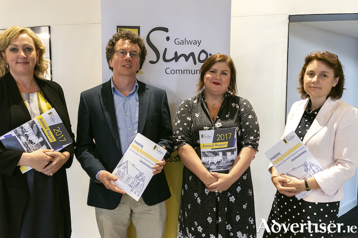 Pictured at the launch are Joan Reinhardt, Galway Simon, Dr. Pádraig Mac Neela, NUIG, Niamh Randall, Simon Communities of Ireland, Karen Golden, CEO of Galway Simon Community.