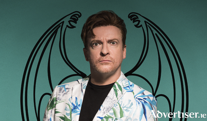 Rhys Darby - ready to take flight in Galway with Mystic Time Bird.