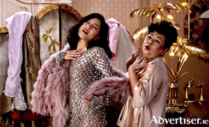 Constance Wu and Chieng Mun in Crazy Rich Asians.